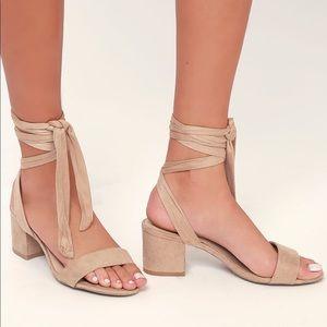 Lulus wrap up low heels